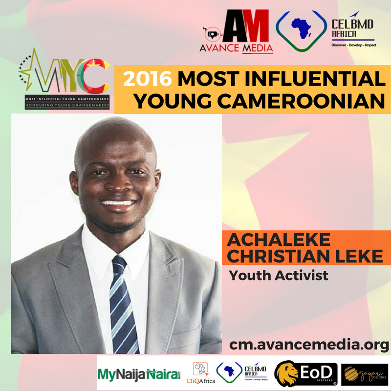 2016 Most influential young Cameroon 1